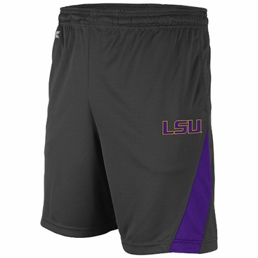 LSU Adrenaline Performance Shorts (Charcoal)