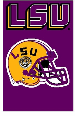LSU Applique Banner Flag