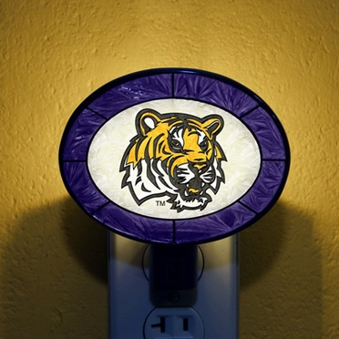 LSU Art Glass Night Light
