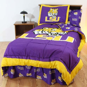 LSU Bed in a Bag Full - With Team Colored Sheets