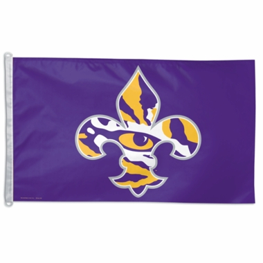 LSU Big 3x5 Flag