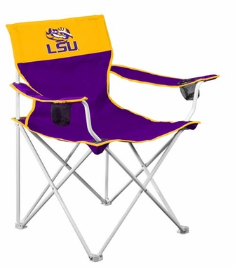 LSU Big Boy Adult Folding Logo Chair
