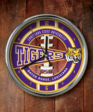 LSU Chrome Clock