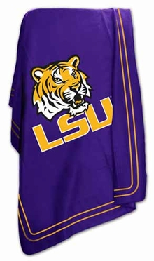 LSU Classic Fleece Throw Blanket