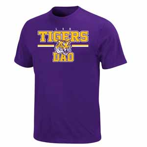 LSU College Dad T-Shirt - X-Large