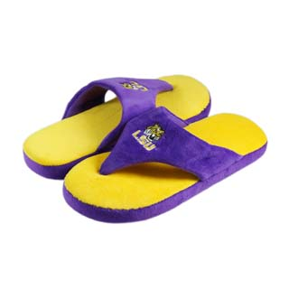 LSU Comfy Flop Sandal Slippers - Large