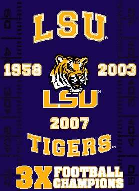 LSU Commerative Jacquard Woven Blanket