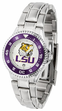 LSU Competitor Women's Steel Band Watch