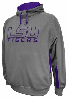 LSU Cover 2 Charcoal Fleece Hooded Sweatshirt