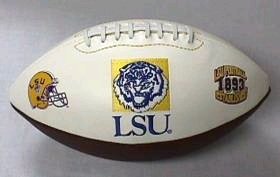 LSU Tigers Full Size Embroidered Signature Series Football