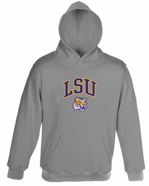 LSU Embroidered Hooded Sweatshirt (Grey)