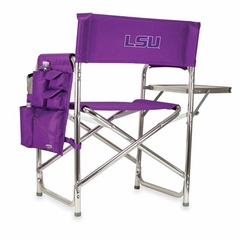 LSU Embroidered Sports Chair (Purple)