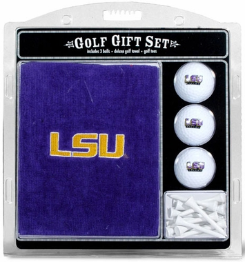 LSU Embroidered Towel Gift Set