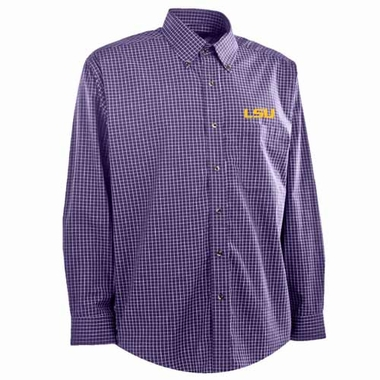 LSU Mens Esteem Button Down Dress Shirt (Team Color: Purple)