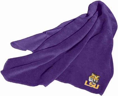LSU Fleece Throw Blanket