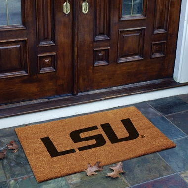 LSU Flocked Coir Doormat