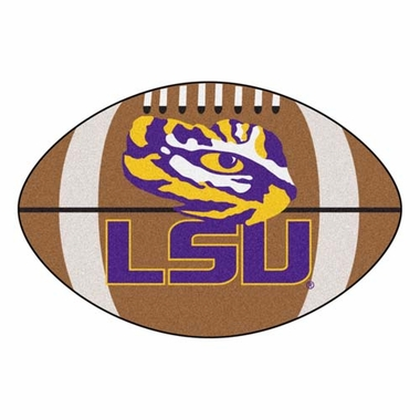 LSU Football Shaped Rug