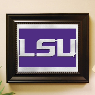 LSU Framed Laser Cut Metal Wall Art