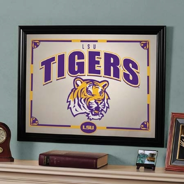 LSU Framed Mirror
