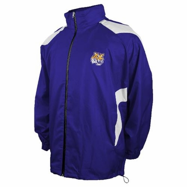 LSU Full Zip Packable Lightweight Jacket