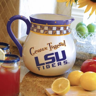 LSU Gameday Ceramic Pitcher
