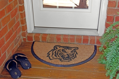 LSU Half Moon Door Mat