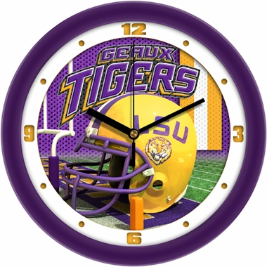 LSU Helmet Wall Clock