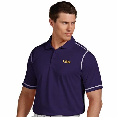 LSU Mens Icon Polo (Team Color: Purple)