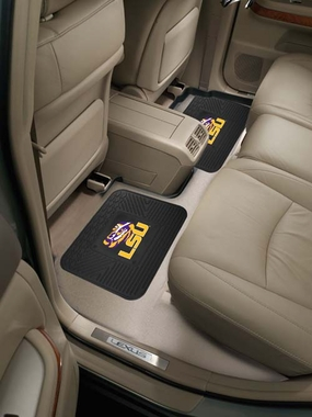 LSU SET OF 2 Heavy Duty Vinyl Rear Car Mats