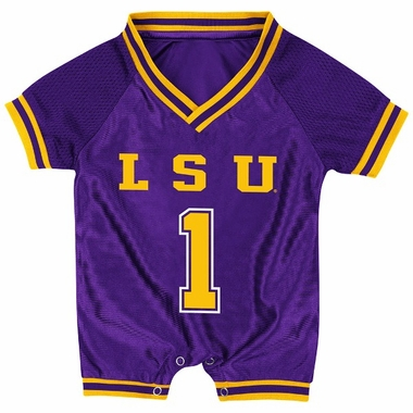LSU Infant Pounce Football Jersey Onesie
