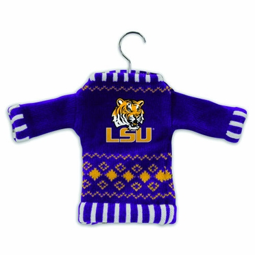 LSU Knit Sweater Ornament (Set of 3)