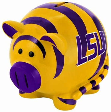 LSU Large Thematic Piggy Bank
