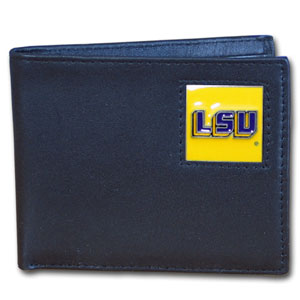 LSU Leather Bifold Wallet (F)