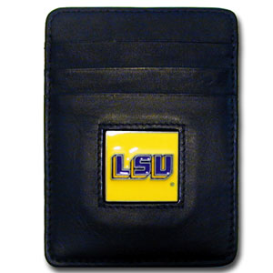LSU Leather Money Clip (F)
