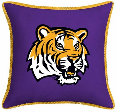 LSU Microsuede Toss Pillow