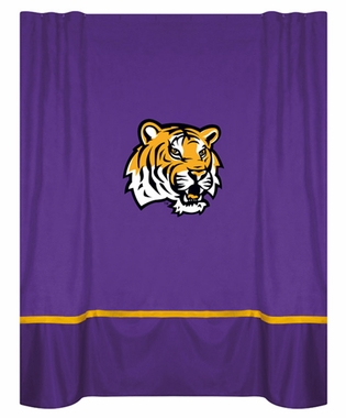 LSU MVP Microsuede Shower Curtain