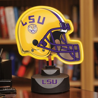 LSU Neon Display Helmet
