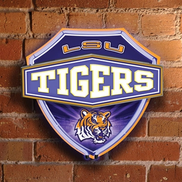 LSU Neon Shield Wall Lamp