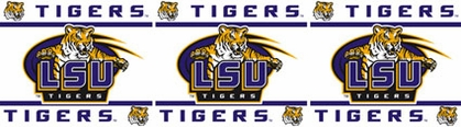 LSU Peel and Stick Wallpaper Border