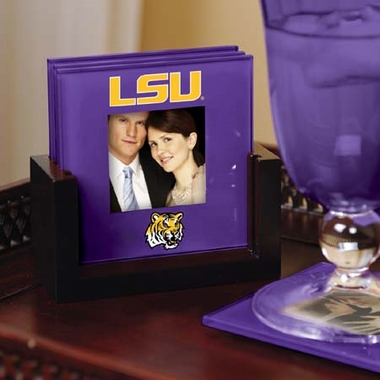 LSU Photo Coaster Set