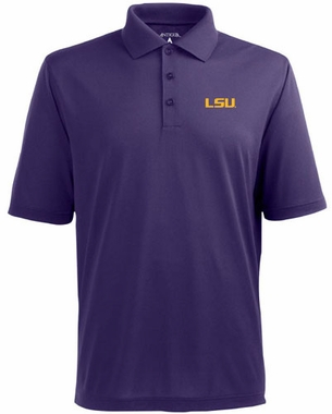 LSU Mens Pique Xtra Lite Polo Shirt (Color: Purple)
