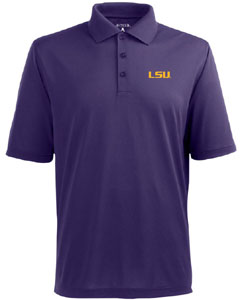 LSU Mens Pique Xtra Lite Polo Shirt (Team Color: Purple) - Medium
