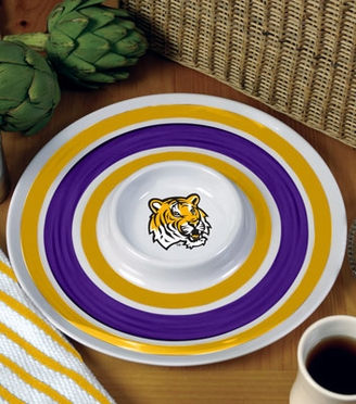 LSU Plastic Chip and Dip Plate