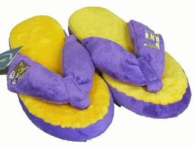 LSU Plush Thong Slippers