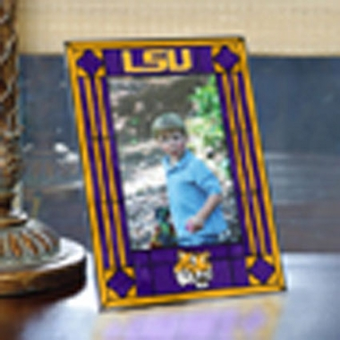LSU Portrait Art Glass Picture Frame