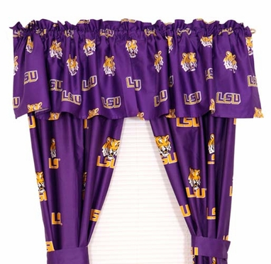 LSU Printed Curtain Panels 42 X 63