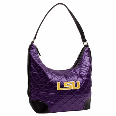 LSU Quilted Hobo Purse