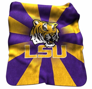 LSU Raschel Throw
