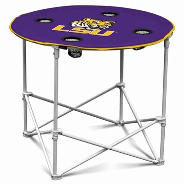 LSU Round Tailgate Table