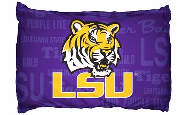 LSU Set of 2 Pillow Cases (Team Color)